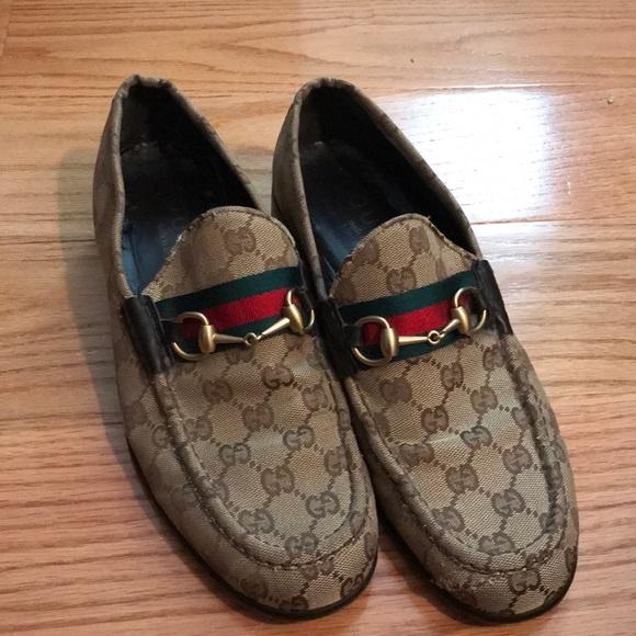 ab2e35021 Gucci Shoes | Vintage Monogram Loafers Sz 10 435 E | Poshmark